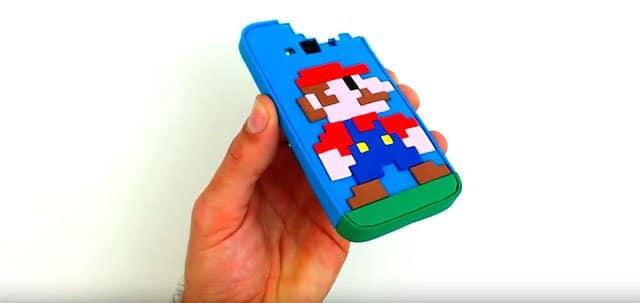 funda para el móvil de Mario Bros hecha de gomaeva