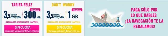 Internet móvil gratis con Happy Móvil