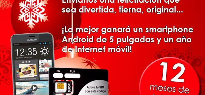 Felicita la Navidad y gana un smartphone y un año de Internet