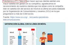 Pepephone felicita a su competidor PTV Telecom